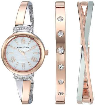 32c8cbd81 at Amazon.com · Anne Klein Women's AK/2245RTST Swarovski Crystal Accented  Rose Gold-Tone and Silver-