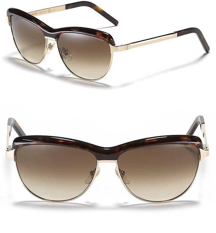 Yves Saint Laurent Metal Frame Sunglasses