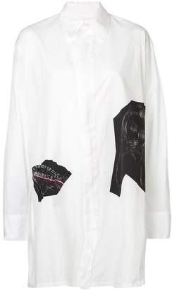 Yohji Yamamoto oversized appliqué shirt