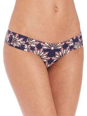 Dancing Blue Ruched-Side Bikini Bottom
