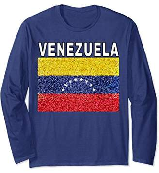Venezuela Flag Patriotic Art Long Sleeve Shirt