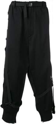 Y-3 harness belt drop crotch trousers