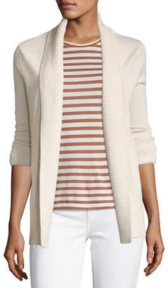 Vince Cashmere Wide-Collar Cardigan Sweater