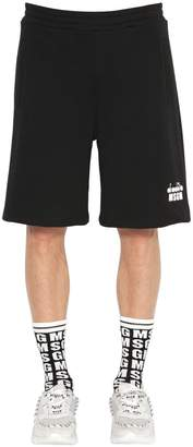 MSGM Diadora Co-Lab Print Cotton Sweat Shorts