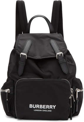 Burberry Black Medium Nylon Rucksack