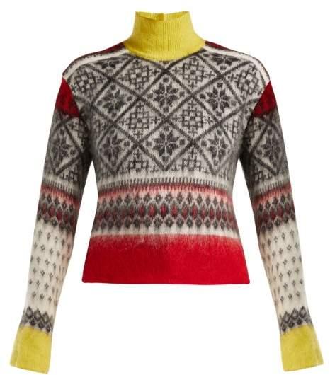 No. 21 - Fair Isle Roll Neck Sweater - Womens - Red Multi