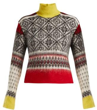 No.21 No. 21 - Fair Isle Roll Neck Sweater - Womens - Red Multi