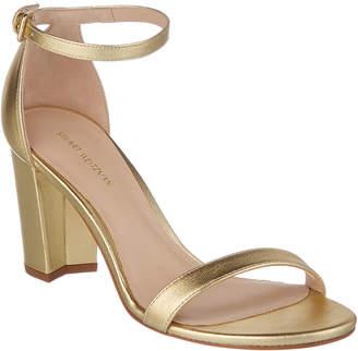 Stuart Weitzman Nearlynude Leather Sandal