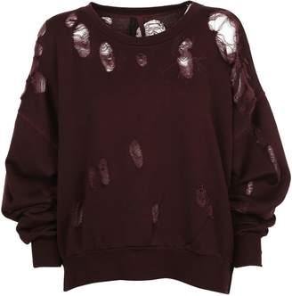 Taverniti So Ben Unravel Project Distressed Sweatshirt