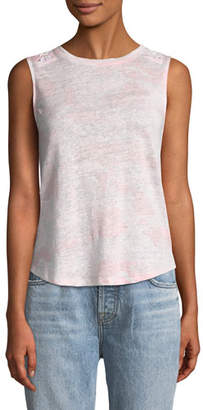 Generation Love Camden Lace-Up Linen Crewneck Tank