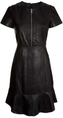 SET Leather Zipped Dress