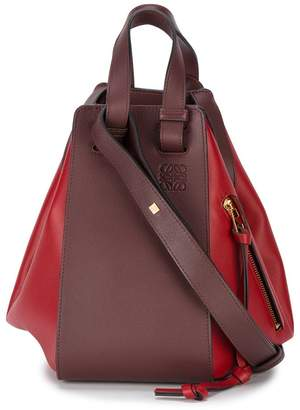 Loewe Red Hammock Leather Tote Bag