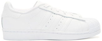adidas Originals White Superstar Sneakers $80 thestylecure.com