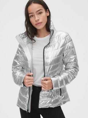 Gap ColdControl Upcycled Lightweight Metallic Puffer Jacket