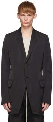 Rick Owens Black Textured New Soft Long Blazer