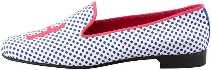 Hadleigh's Audrey Polka-Dot Smoking Loafer