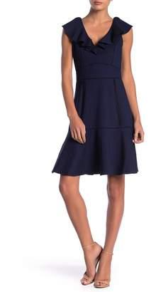 Adelyn Rae Gia Knit Ruffle V-Neck Dress