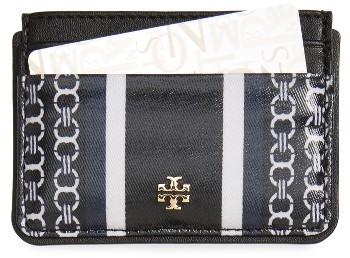 Tory BurchWomen's Tory Burch Gemini Link Slim Leather Card Case - Green