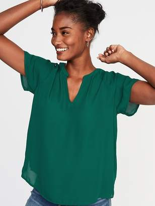 Old Navy Relaxed Split-Neck Top for Women