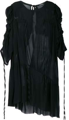 Ann Demeulemeester Blanche asymmetric tie detail tunic