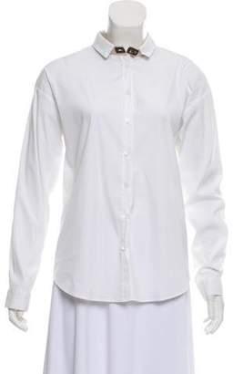 Fabiana Filippi Long Sleeve Button-Up Top