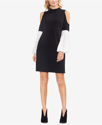 Vince Camuto Colorblocked Cold-Shoulder Dress