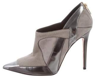 Prabal Gurung Point-Toe Leather Booties