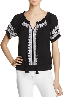 Design History Embroidered Peasant Top $78 thestylecure.com