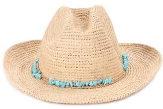 Melissa Odabash Elle raffia hat
