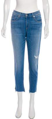 Rag & Bone Capri Mid-Rise Straight-Leg Jeans