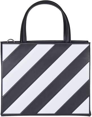 Off-White Off White Diagonal Striped Tote