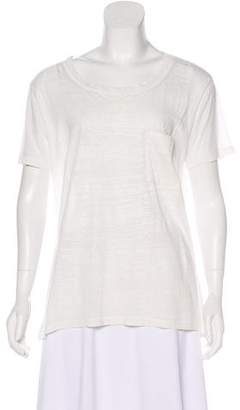 Raquel Allegra Scoop Neck Short Sleeve T-Shirt