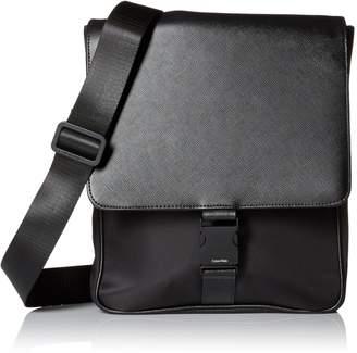 Calvin Klein Men's Nylon/Saffiano City Bag