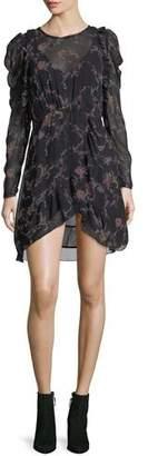 IRO Loxie Floral-Print Chiffon Short Dress