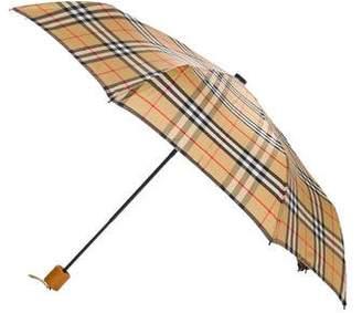 Burberry House Check Nylon Umbrella