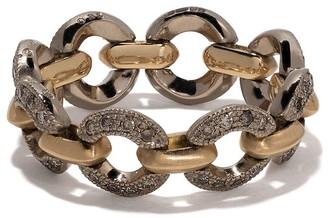 hum 18kt gold chain link diamond ring