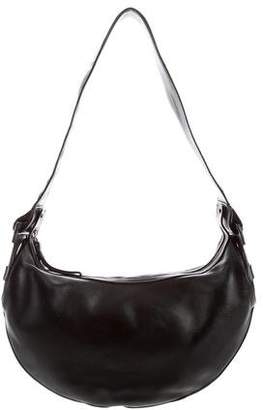 Salvatore Ferragamo Leather Gancini Hobo