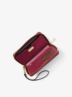 MICHAEL Michael Kors Jet Set Snakeskin Smartphone Wristlet