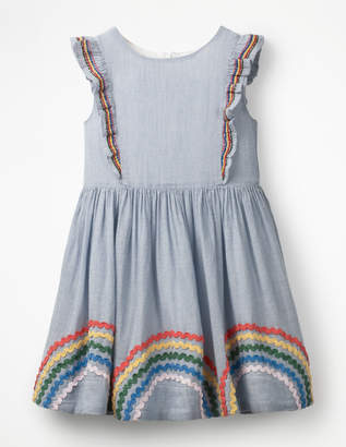 Boden Embroidered Frill Dress