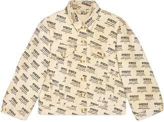 Gucci The stamp print denim jacket