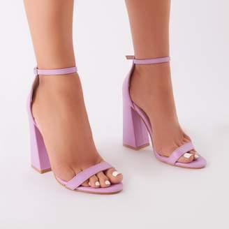 abe81480d at Public Desire · Public Desire Tess Block Heels in Lilac