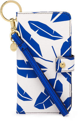 Henri Bendel Dalton Leaf Printed Wristlet For Iphone 7 / 8 Plus