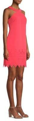 Laundry by Shelli Segal Crepe Laser Cut Hem Dress
