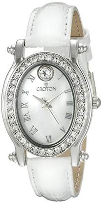 Croton Women's CN207537WHMP Balliamo April Birthstone Analog Display Quartz Watch