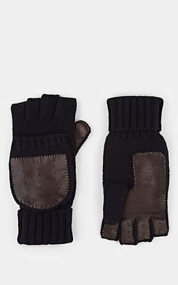 Barneys New York Men's Cashmere Convertible Mittens - Navy