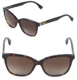 Fendi Striped-Side 55MM Square Sunglasses