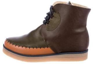 Stella McCartney Boys' Vegan Leather Round Toe Boots