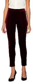 Isaac Mizrahi Live! Petite Knit Velvet Leggings