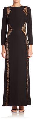 Tadashi Shoji Long Sleeve Dress $408 thestylecure.com