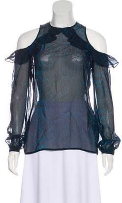 Preen by Thornton Bregazzi Printed Silk Top w/ Tags